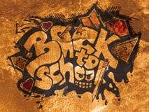 Di nuovo al segno del banco - graffito Fotografia Stock