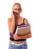 Di nuovo al telefono 2 delle cellule del banco Fotografie Stock Libere da Diritti