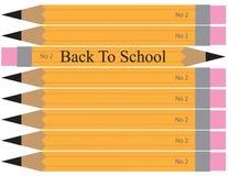 Di nuovo all'illustrazione della matita della scuola Fotografia Stock