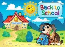 Di nuovo all'immagine tematica 5 della scuola Fotografie Stock