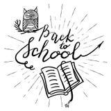 Di nuovo all'iscrizione della scuola immagine stock libera da diritti