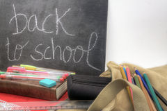 Di nuovo all'orizzontale della scuola Fotografie Stock Libere da Diritti