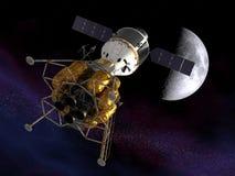Di nuovo alla luna. Immagini Stock