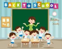 Di nuovo alla scuola con l'allievo della scuola primaria Fotografia Stock Libera da Diritti