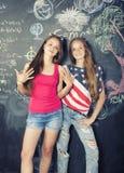 Di nuovo alla scuola dopo le vacanze estive Fotografie Stock Libere da Diritti