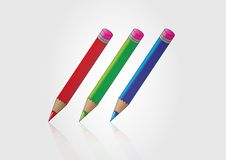 Di nuovo alla scuola ed alla matita Fotografia Stock Libera da Diritti