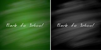 Di nuovo alle insegne di vendita della scuola Ambiti di provenienza verdi e neri della lavagna Illustrazione di vettore Fotografia Stock Libera da Diritti