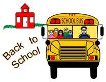 Di nuovo allo scuolabus Fotografie Stock Libere da Diritti