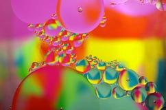 Di olio in acqua fotografia stock libera da diritti