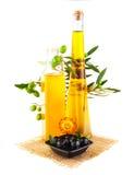 Di oliva dell'olio vita ancora immagine stock libera da diritti