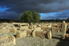 Di olivo in rovine antic Fotografia Stock