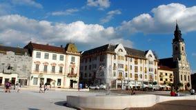 Di Oradea città giù Fotografie Stock