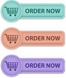Di ordine bottoni ora Immagine Stock Libera da Diritti