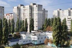 ` Di orizzonte del ` di Microdistrict a Harkìv fotografia stock
