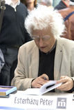 ¡ Di Péter Esterhà zy - scrittore ungherese famoso che dedica i suoi libri Immagini Stock Libere da Diritti