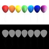 di palloni colorati Multi 3D Fotografia Stock Libera da Diritti