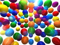di palloni colorati Multi 3D Immagine Stock Libera da Diritti