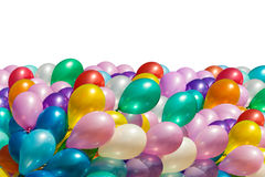 di palloni colorati Multi isolati su bianco Immagine Stock