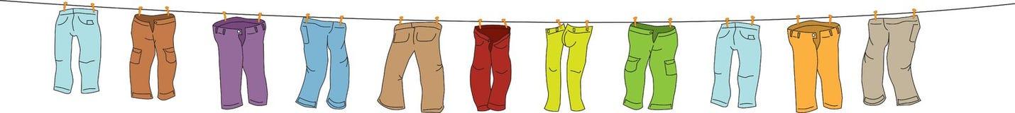 di pantaloni colorati Multi illustrazione vettoriale