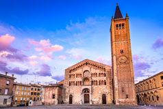 Di Parma do domo, Parma, Itália - Emilia Romagna Fotos de Stock
