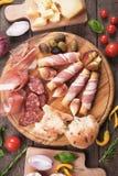 Di Parma do Prosciutto e o outro alimento italiano fotos de stock