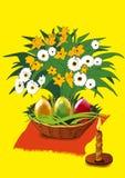 Di Pasqua vita e candele ancora Fotografie Stock