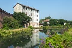 Di Pavía, casa vieja de Certosa Imágenes de archivo libres de regalías