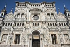 Di Pavía Italia, iglesia histórica de Certosa Imagen de archivo libre de regalías