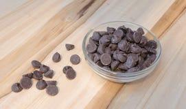 Di pepita di cioccolato fotografia stock