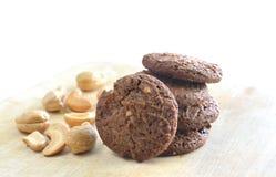 Di pepita di cioccolato ed anacardio casalinghi Fotografia Stock