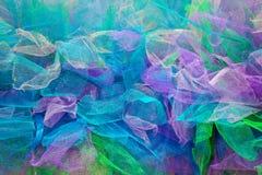 Di pezzi colorati multi del fondo di tessuto Fotografia Stock Libera da Diritti