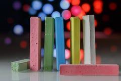 di pezzi di gesso colorati Multi per disegnare Fotografia Stock Libera da Diritti