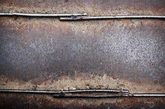 Di piastra metallica arrugginito Fotografie Stock Libere da Diritti