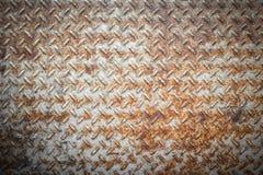 Di piastra metallica arrugginito Fotografia Stock