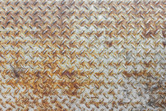 Di piastra metallica arrugginito Fotografie Stock
