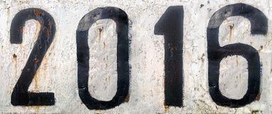 Di piastra metallica arrugginito con i numeri Fotografie Stock