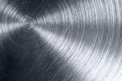Di piastra metallica brillante graffiato Fotografie Stock Libere da Diritti