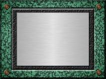 Di piastra metallica di marmo Fotografia Stock Libera da Diritti