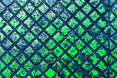Di piastra metallica nel colore verde Immagini Stock