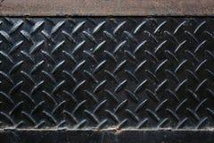Di piastra metallica nero sporco Fotografie Stock Libere da Diritti