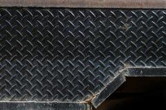 Di piastra metallica nero sporco Immagine Stock