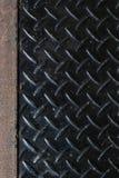 Di piastra metallica nero sporco Immagini Stock Libere da Diritti
