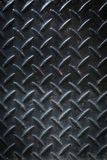Di piastra metallica nero sporco Fotografie Stock