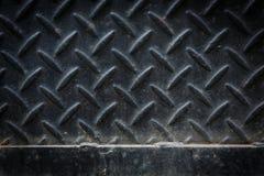 Di piastra metallica nero sporco Immagini Stock