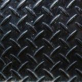 Di piastra metallica nero sporco Fotografia Stock