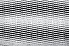 Di piastra metallica perforato Fotografie Stock