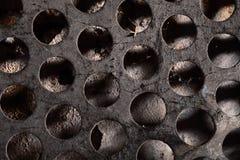 Di piastra metallica perforato con spazio vuoto per la vostra inserzione Fotografia Stock Libera da Diritti