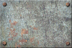 Di piastra metallica sporco Fotografia Stock Libera da Diritti