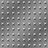 Di piastra metallica strutturato della piramide Fotografie Stock Libere da Diritti