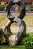 Di pietra scolpendo di numero otto in Ang Thong Immagine Stock